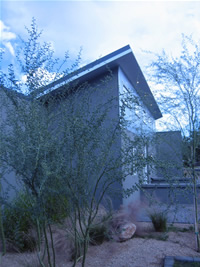 Beautiful elevation of architectural rental home in Tempe, Arizona